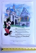 Vintage 1988 Disneyland Honorary Citizen Award- Unsigned Excellent Condition