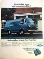 1966 Ford SuperVan Econoline Vintage Advertisement Print Art Car Ad Poster LG70