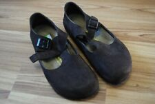 BIRKENSTOCK WOMENS LONDON HABANA OILED LEATHER CLOGS SIZE EUR 38 US 7-7 1/2 MINT