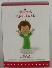 NIB Hallmark Keepsake Mary's Angels Holly Ornament 2015