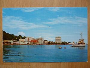 WATER FRONT JESSELTON SABAH BORNEO MALAYSIA 1950s POSTCARD PUBLISHED SINGAPORE