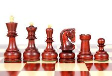 """Bud Rose Wood Zagreb Staunton Wooden Chess Set Pieces King size 4"""" with Box"""