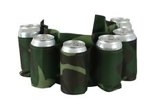 Redneck SIX Pack Beer Holster Camouflage Holds Nylon Belt Soda Camo 6 Pop Cans!