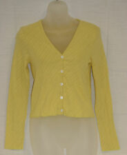 PETIT BATEAU Women's Yellow Cardigan 94567 Sz 14 Years S NEW $98