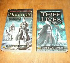 LOT OF 2 by J. C. Hendee and Barb Hendee PB FANTASY Thief of Lives, Dhampir
