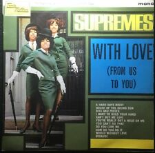 THE SUPREMES  WITH LOVE FROM US TO U  RARE MONO LP Excellent