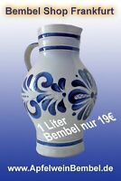"Trink Bembel 0,25 l NEU /""Heißer Apfel/"" Handarbeit Salzglasur"