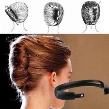 Fashion Women Hair Styling Updo Donut Bun Clip Tool French Twist Maker Holders