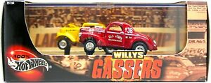 Hot Wheels WILLYS GASSERS 2-Car Set NEW in Sealed Box MISB hot Rod Series