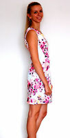 New Lady Women Summer Stylish Floral Print Stretch Dress Made in Italy size10-14