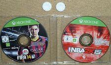 NBA 2K15 + FIFA 14 Games MICROSOFT XBOX ONE + 2 CONTROLLER THUMB GRIP Basketball