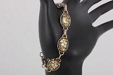 Design Link Bracelet Fashion 2995 Costume Black & Gold Embossed