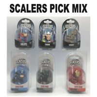 Marvel Scalers Pick N Mix IRON MAN, BLACK PANTHER, CAPTAIN AMERICA, THOR,GROOT