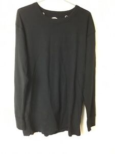 Duofold Men's Mid Weight Wicking Crew Neck Top, Black, Large New Without Tags