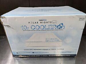 Therapedic Polar Nights TWIN XL Cooling Memory Foam & Fiber Mattress Topper