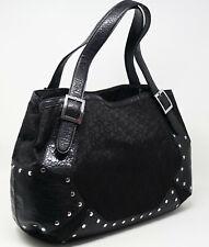 DKNY Black Chino Buckle Stud Detail Large Handbag Purse Satchel Tote