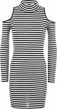 Regular Size Striped Stretch, Bodycon Casual Dresses for Women