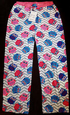 NWT PINK OWL PAJAMA LOUNGE PANTS WOMENS LADIES SUMMER LOUNGERS COTTON M MEDIUM