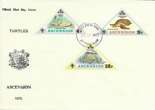 Ascension Islands 1973 Turtles set on FDC