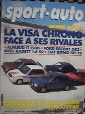 SPORT AUTO 1982 CITROEN VISA CHRONO / ALFASUD Ti / ESCORT XR3 / RITMO 105  n°244