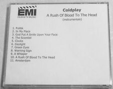 COLDPLAY 'A RUSH OF BLOOD TO THE HEAD' INSTRUMENTALS ALBUM PROMO EMI CD UK