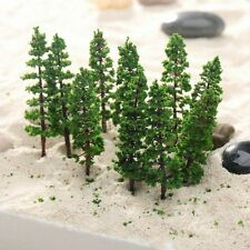 10Pcs 9cm Green Pine Trees Model Street Railway Park Garden Scenery Scale Layout