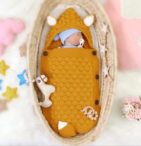 Newborn Baby Kids Swaddle Sleeping Bag Thicken Infant Soft Warm Blanket Wrap