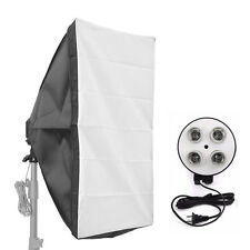 Photo Video Studio Lighting Softbox + 4in1 E27 Socket Lamp Head Holder Stand Kit