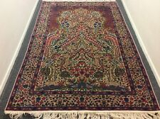 AUTHENTIC ANTIQUE PERSIAN KERMAN LAVAR RUG TREE OF LIFE WITH BIRDS OF PARADISE