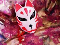 Full Face Fox Mask Hand-Painted Kitsune Party Accessory Cosplay Anime Masquerade