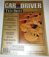 Car And Driver Magazine Ten Best Cars & Photographs January 1986 080814R