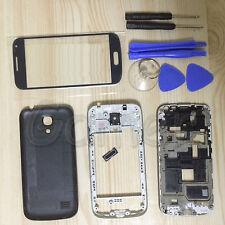 Full Housing Case + Screen Glass + tools For Samsung Galaxy S4 mini I9190 Black