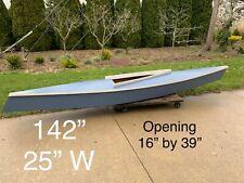 wooden Kayak Hand Built 12' Vintage Very Unique Wooden Canoe Handmade