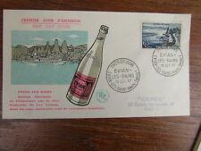 1 x FDC ENVELOPPE PREMIER JOUR FRANCE 19/10/1957 EVIAN LES BAINS
