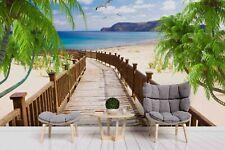 3D Beach Palm Landscape Wallpaper Wall Murals Removable Wallpaper 320