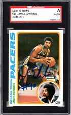 1978-79 Topps James Edwards Autographed Rookie Card #27 SGC Pacers