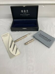 Rare Boxed Sterling Silver Yard-o-Led Pen Retailed By Smythson Of Bond Street
