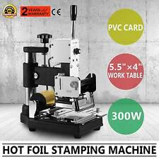 Hot Foil Stamping Machine libre Foil Paper Craft ID Cartes PVC Box dorure 300 W