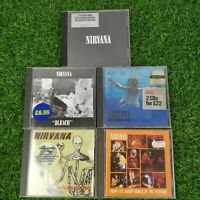 Nirvana CD Bundle x 5 - Grunge Alt Rock Nevermind Best Of Bleach Music