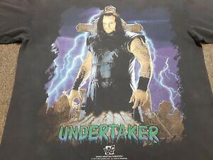 VTG 90s 1997 WWF UNDERTAKER Mark William Calaway Wrestling T Shirt Black Large L