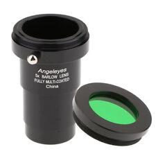 "5X Telescope Barlow Lens Eyepiece for Celestron 1.25"" T Adapter w/ Filter"