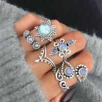 schmuck - set frauen finger artikulation. opal boho ringe knöchel stapeln