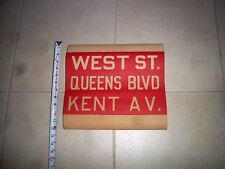 Nyc Brooklyn Bus Sign Maspeth Ny Roll Sign West Street Queens Boulevard Kent Av