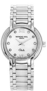 RARE RAYMOND WEIL 2321 OTHELLO DIAMOND LADIES  WATCH  RRP £2200 NEW