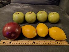 (8) Faux Fruit Pomegranates Lemons Apples Fake Realistic Food Theater Prop