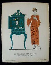 George Barbier Le Tombeau des Secrets   Gazette du Bon Ton 1922 Pl. 7