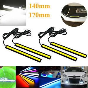 Day Time LED Car Running Light DRL COB Strip Light 12V Waterproof Car Side Light