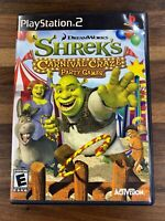 Shrek's Carnival Craze Party Games (Sony PlayStation 2, 2008) PS2 GAME COMPLETE