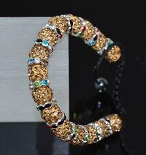 Original Shamballa Armband Zirconia Kristall  Kugeln Armkette Glücksbringer Glas