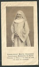 Estampa antigua de la Venerable Maria Assumpta andachtsbild santino holy card